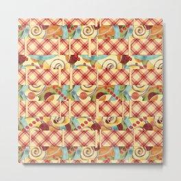 Plaid Europa Textile Design Metal Print