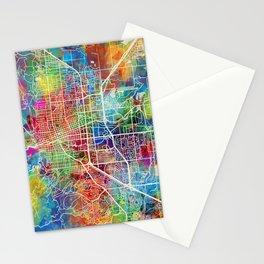Boulder Colorado City Map Stationery Cards