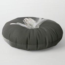 White Anemone Flower in Black And White #decor #society6 #buyart Floor Pillow