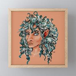 Female elf profile 1d ver. 2 Framed Mini Art Print
