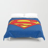 superman Duvet Covers featuring Superman by Alisa Galitsyna