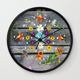 Dock Mandalla Wall Clock