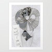 postcard Art Prints featuring POstcard  by Lisa G Bauer