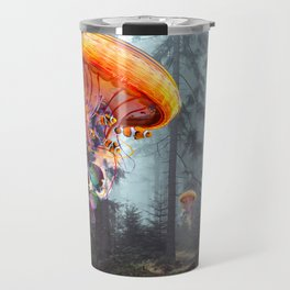 ElectricJellyfish Worlds in a Forest Travel Mug