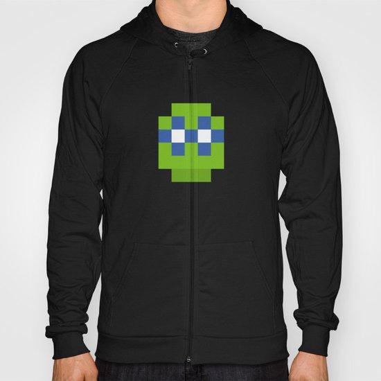 hero pixel green blue Hoody