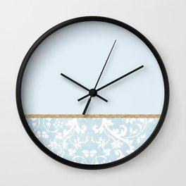Duck egg blue porcelain floral Wall Clock