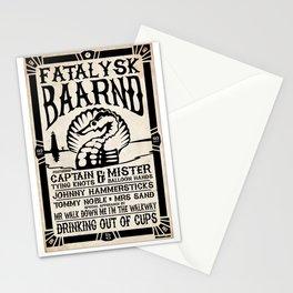 Fatalysk Baarnd Concert Poster Stationery Cards