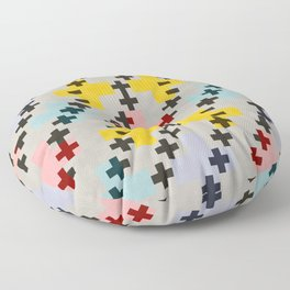 Abstract Cross Pattern Floor Pillow