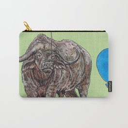 Buffalo with balloon Carry-All Pouch
