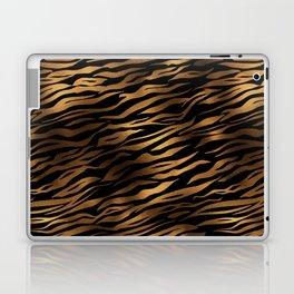 Gold and black metal tiger skin Laptop & iPad Skin