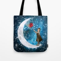 the little prince Tote Bags featuring The Little Prince by Diogo Verissimo