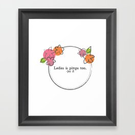 Floral - Ladies Framed Art Print