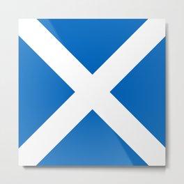 Flag of Scotland Metal Print