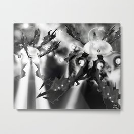 It came from Inner Space [Digital Science Fiction Illustration] Metal Print