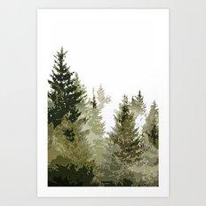 Gros Ventre Smoke Art Print