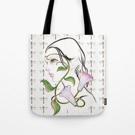 Floral portrait Tote Bag