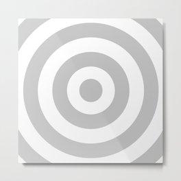 Target (Gray & White Pattern) Metal Print