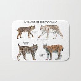 Lynxes of the World Bath Mat