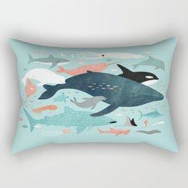 Under the Sea Menagerie Rectangular Pillow