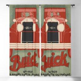 Vintage Car Ad Poster - American Car - Old Car Design - Paris France - Automobile Poster - Lithograph Art Wall Blackout Curtain