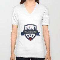gaming V-neck T-shirts featuring Toronto Gaming by rramrattan