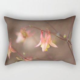 Pink Columbine Rectangular Pillow