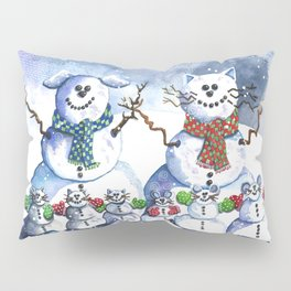 It's Snowing Cats and Dogs (and Mice too) Pillow Sham