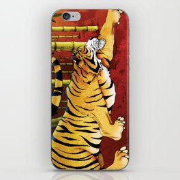Tiger in a Bamboo Forest iPhone Skin
