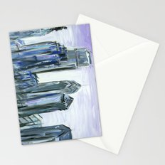Gray Philadelphia Skyline Stationery Cards