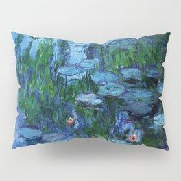 Claude Monet Water Lilies / Nymphéas Teal Pillow Sham