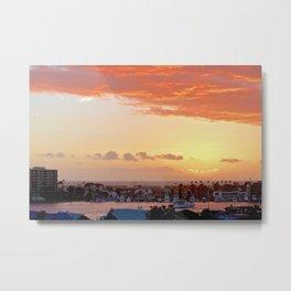 Modern Sunset On Cliff Drive Newport Beach CA Metal Print