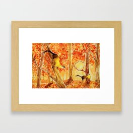 Animals from Formosa -Yellow-throated marten  Framed Art Print