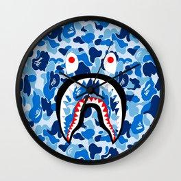 bape blue Wall Clock
