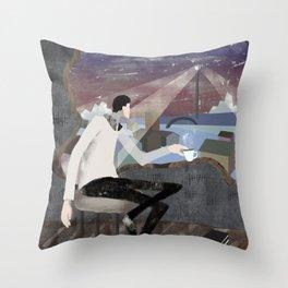 Caffee, Books and Solitude Throw Pillow