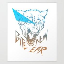 Bite New Year Art Print