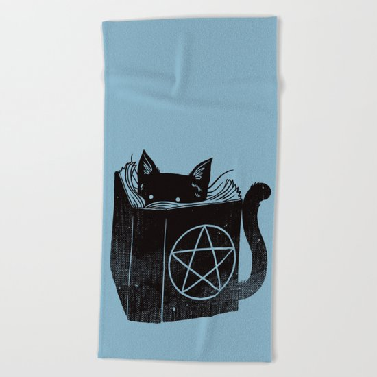 WITCHCRAFT CAT (Blue) Beach Towel