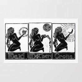 Maid, Mother, Crone - Lino Print Rug