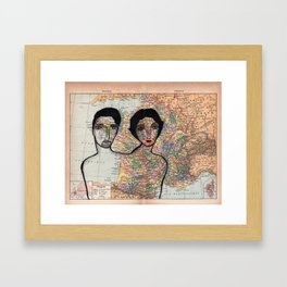 Our French Holiday Framed Art Print