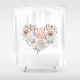 Bird of Paradise #floral Shower Curtain