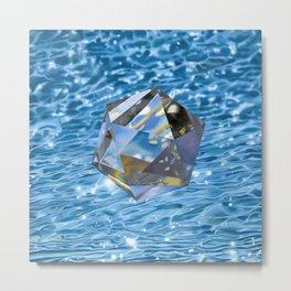 Icosahedron/Water Metal Print