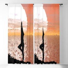 colorful prismatic chromatic yoga Blackout Curtain