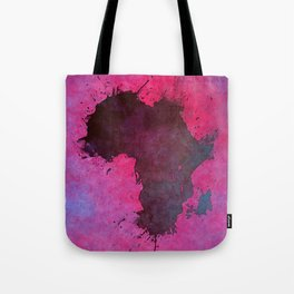 Africa map pink #africa #map Tote Bag