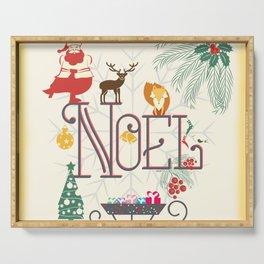 Christmas Noel Serving Tray