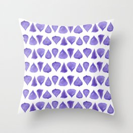 Teardrop Pattern Brush Graphic Artwork Ultra Violet Love Throw Pillow