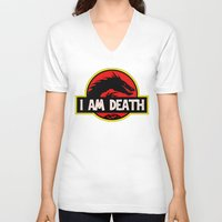 smaug V-neck T-shirts featuring Smaug - I am Death T-Shirt Design by sugarpoultry