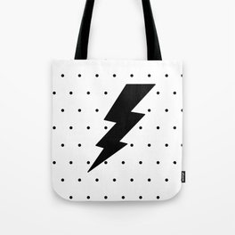 Lightning bolt and dots Tote Bag