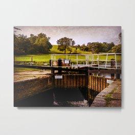 Fladbury Lock. Metal Print