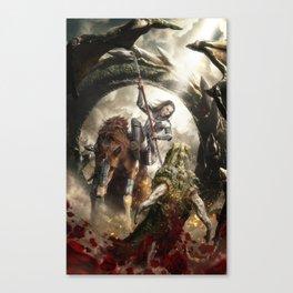 Saint Georgine and the Dragon Canvas Print