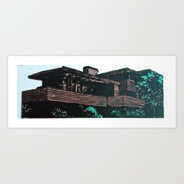 Frank Lloyd Wright linocut study #1 Art Print
