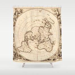 World Map circa 1713 (Planisphere terrestre) Shower Curtain